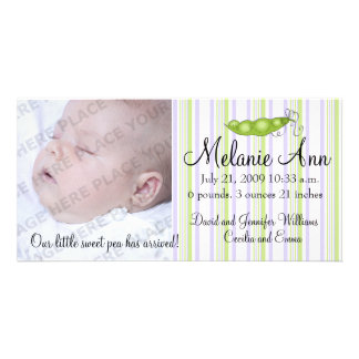 Sweet Baby Pea Photo Picture Card
