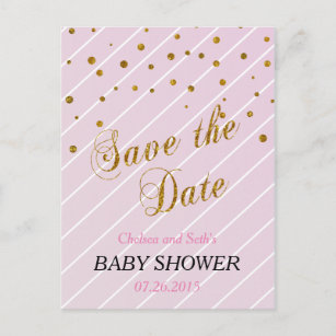 Save The Date Baby Shower Invitations Zazzle