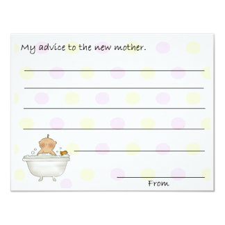 Sweet Baby Shower Advice Cards