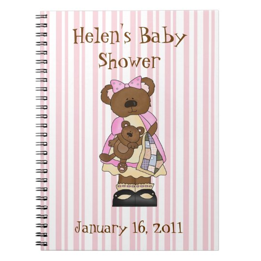 Sweet Baby Shower Notebook