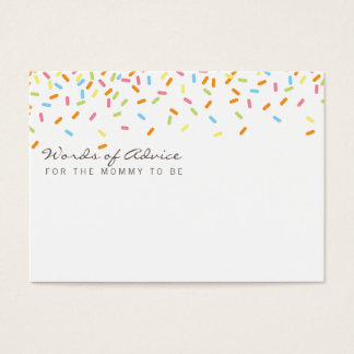 Sweet baby Sprinkle Mommy Advice Cards