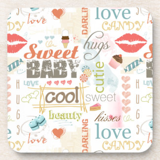 Sweet Baby Text Design Your Color  ID237 Drink Coaster