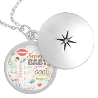 Sweet Baby Text Design Your Color  ID237 Locket Necklace