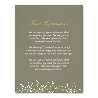 Sweet Baby's Breath Wedding Insert Card