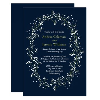 Sweet Baby's Breath Wedding Invite by origamiprints at Zazzle