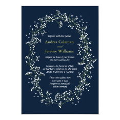 Sweet Baby's Breath Wedding Invite at Zazzle