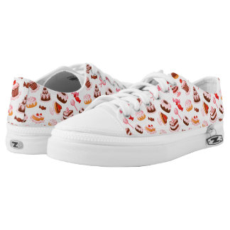 Sweet background printed shoes