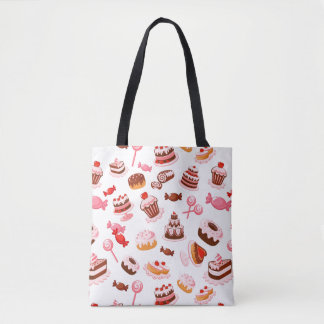 Sweet background tote bag