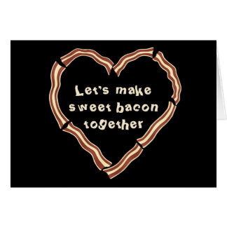 Sweet bacon heart Valentine's day Greeting Card