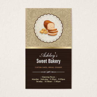 Sweet Bakery Boutique - Breads Donut Toast Dessert Business Card