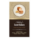 Sweet Bakery Boutique - Breads Donut Toast Dessert Double-Sided Standard Business Cards (Pack Of 100)