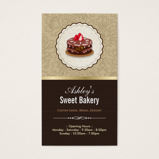 Sweet Bakery Boutique - Cakes Chocolates Pastry Business Card