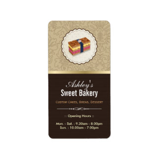 Sweet Bakery Boutique - Loaf Looking Cake Label