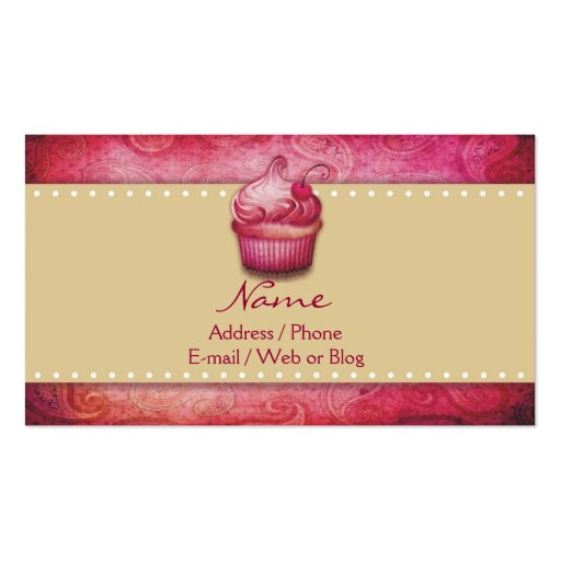 Sweet Bakery Business Cards (back side)