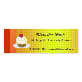 Sweet Bakery Cake Cupcakes & Confections Mini Business Card