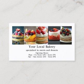 Sweet Bakery Dessert Catering Business Card