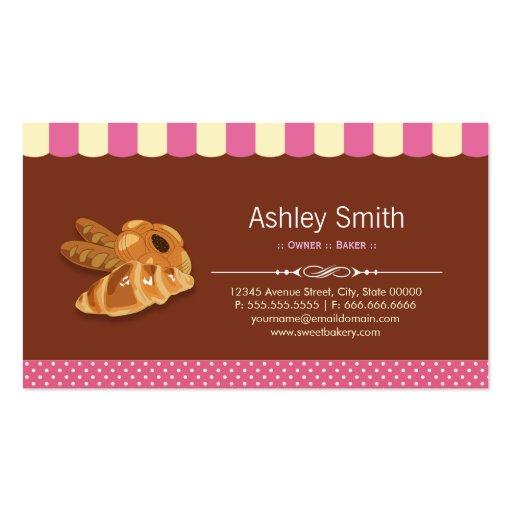 Sweet Bakery Shop - Breads Rolls Toasts Dessert Business Card (back side)