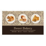 Sweet Bakery Shop - Breads Rolls Toasts Dessert Double-Sided Standard Business Cards (Pack Of 100)