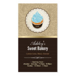 Sweet Bakery Shop - Cupcakes Chocolates Dessert Double-Sided Standard Business Cards (Pack Of 100)