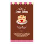 Sweet Bakery Shop - Custom Cakes Chocolates Pastry Double-Sided Standard Business Cards (Pack Of 100)