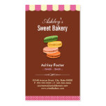 Sweet Bakery Shop - Macaroons Macarons Pastries Double-Sided Standard Business Cards (Pack Of 100)