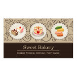 Sweet Bakery Store - Custom Cakes Pastry Macarons Double-Sided Standard Business Cards (Pack Of 100)