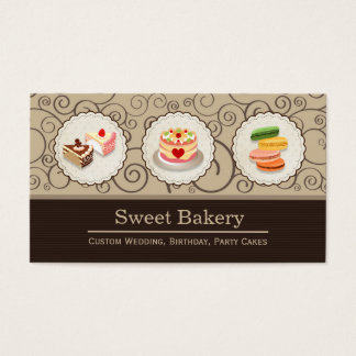 Sweet Bakery Store - Custom Cakes Pastry Macarons Business Card