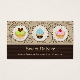 Sweet Bakery Store - Lovely Custom Cupcakes Business Card
