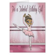 """Sweet Ballerina Birthday Cards"" Card"
