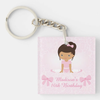 Sweet Ballerina Birthday Party Personalized Keychain