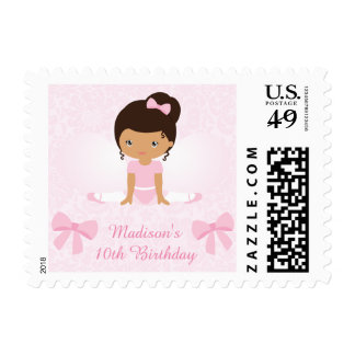 Sweet Ballerina Birthday Party Personalized Postage Stamp