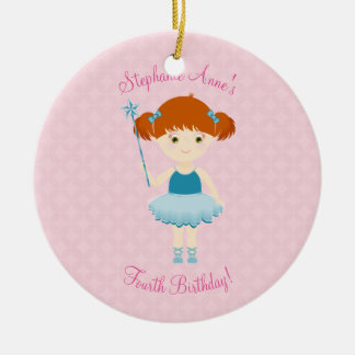 Sweet Ballerina Cupcake Celebration Ceramic Ornament