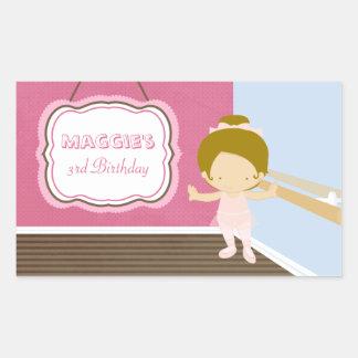 Sweet ballerina girls birthday party stickers