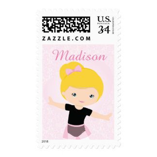 Sweet Ballerina Personalized Postage Stamp