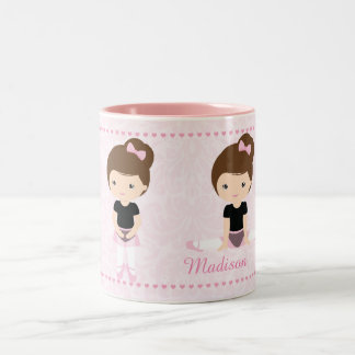 Sweet Ballerina Personalized Two-Tone Coffee Mug