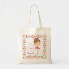 Sweet Ballerina Tote Bag Canvas Bag