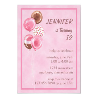 Sweet Balloons Birthday Party Invitation
