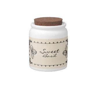 Sweet Basil Herb Jar Candy Jars