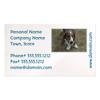Sweet Basset Hound Business Card