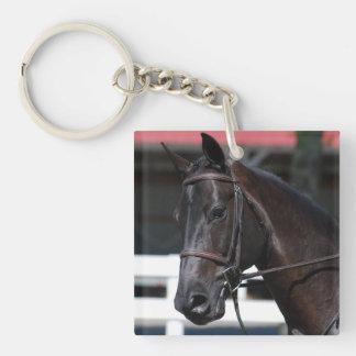 Sweet Bay Horse Square Acrylic Key Chain