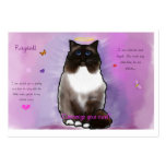Sweet Beautiful Ragdoll Large Business Cards (Pack Of 100)