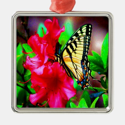 sweet beauty and joy yellow butterfly christmas tree ornaments