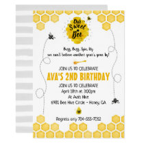 Sweet Bee Birthday Invitation