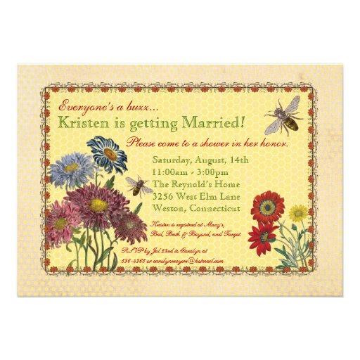 Sweet Bee Bridal Shower Invitation