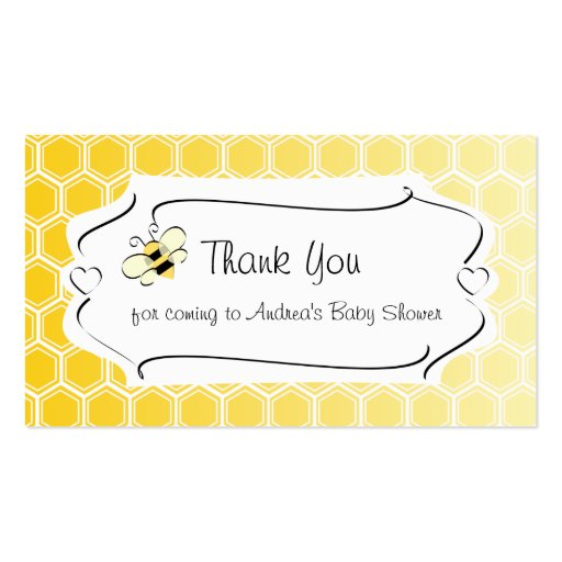 Sweet bee business card zazzle for Bee business cards