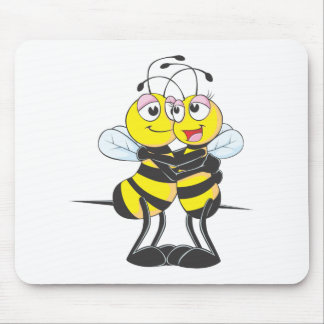 Sweet Bee Couple Mouse Pad