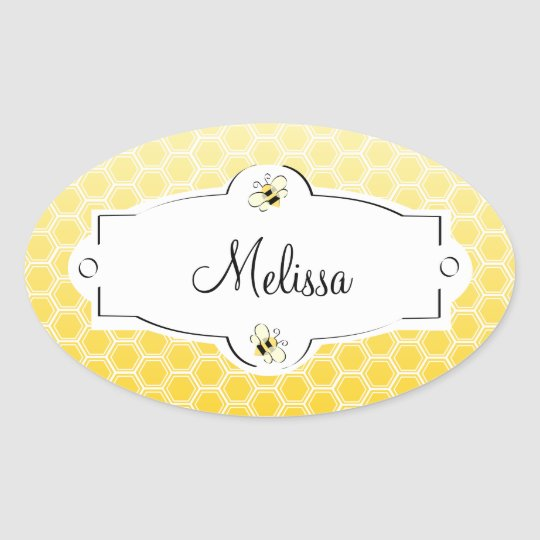 Sweet Bee Oval Sticker
