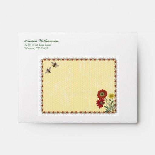Sweet Bee Personalized Envelope