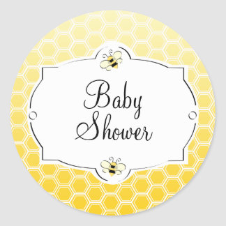 Sweet Bee Classic Round Sticker