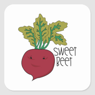 Sweet Beet Square Sticker